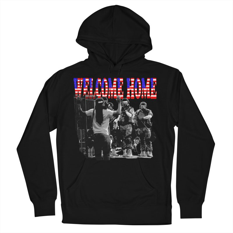 Welcome Home USA 2 Men's Pullover Hoody by Paparaw's T-Shirt Design