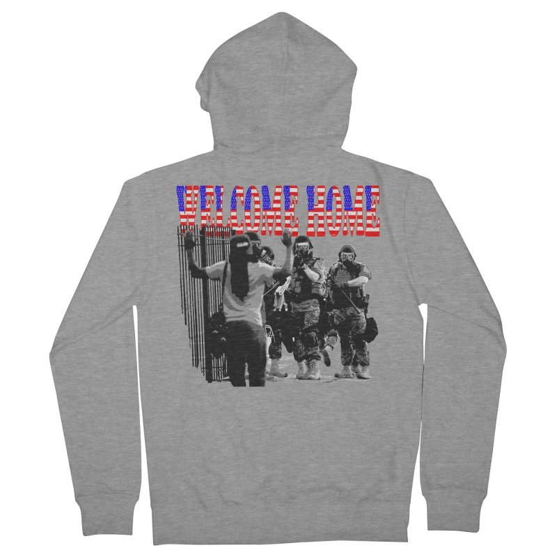 Welcome Home USA 2 Women's Zip-Up Hoody by Paparaw's T-Shirt Design