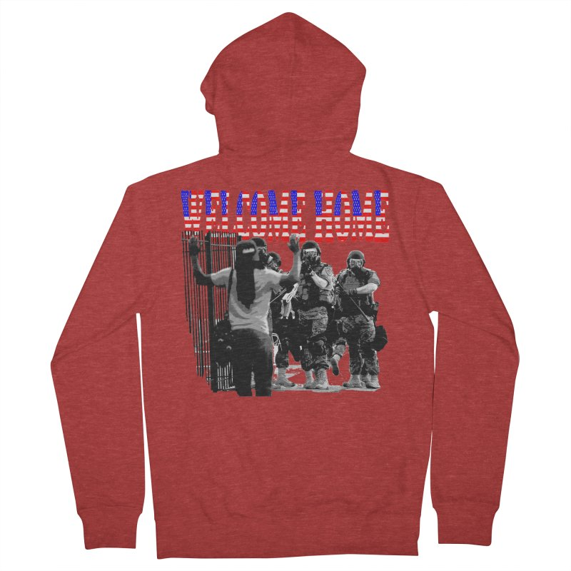 Welcome Home USA 2 Men's Zip-Up Hoody by Paparaw's T-Shirt Design