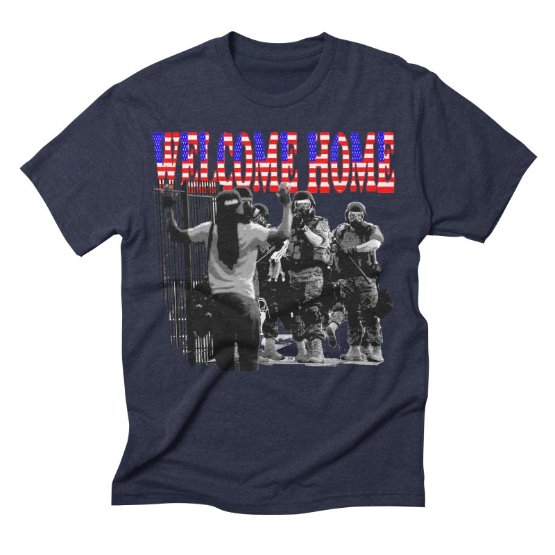 Welcome Home USA 2 Men's Triblend T-shirt by Paparaw's T-Shirt Design