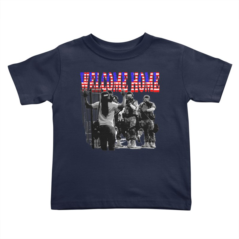 Welcome Home USA 2 Kids Toddler T-Shirt by Paparaw's T-Shirt Design