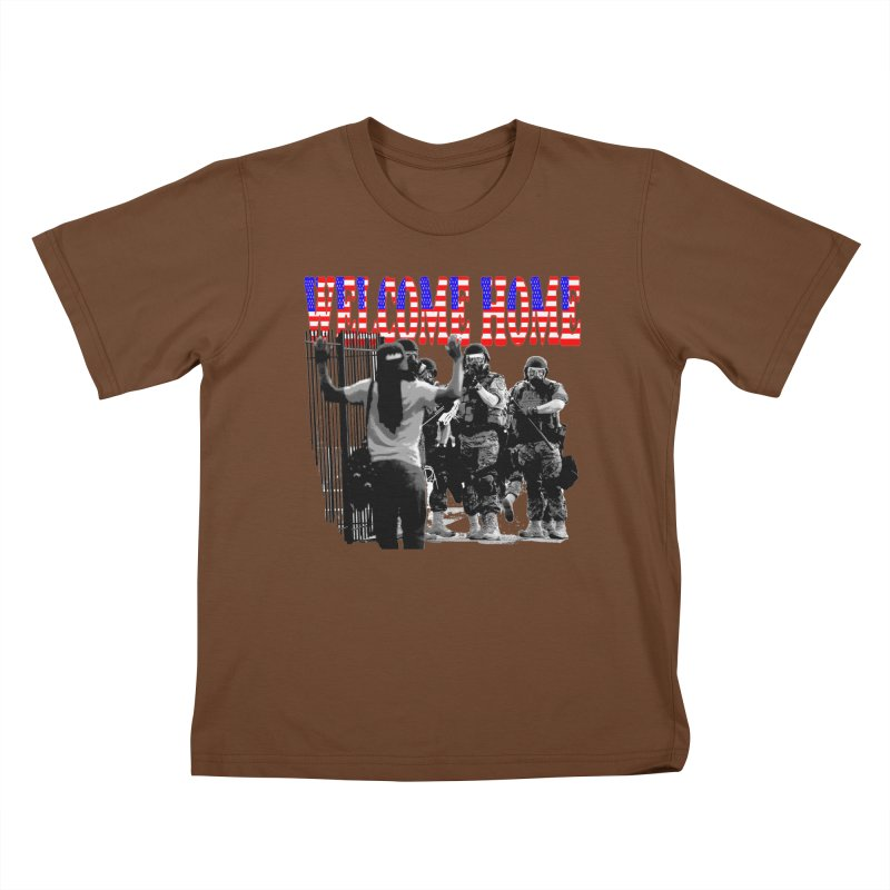 Welcome Home USA 2 Kids T-Shirt by Paparaw's T-Shirt Design