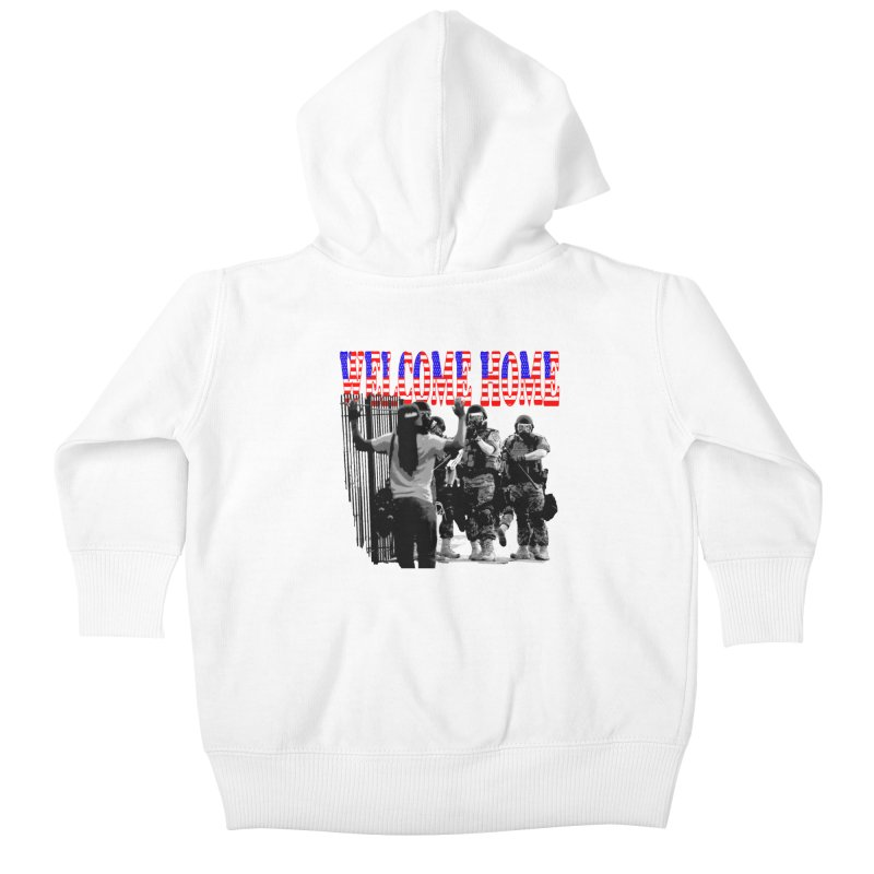 Welcome Home USA 2 Kids Baby Zip-Up Hoody by Paparaw's T-Shirt Design