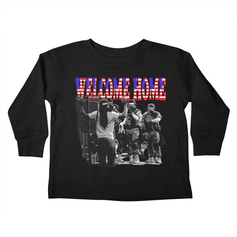 Welcome Home USA 2 Kids Toddler Longsleeve T-Shirt by Paparaw's T-Shirt Design