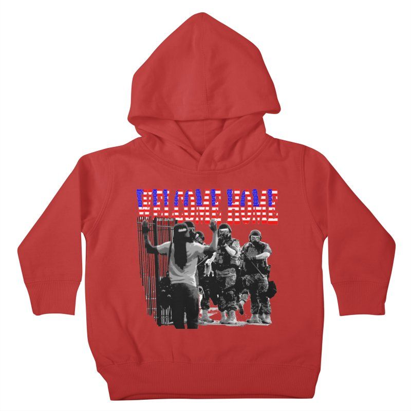 Welcome Home USA 2 Kids Toddler Pullover Hoody by Paparaw's T-Shirt Design