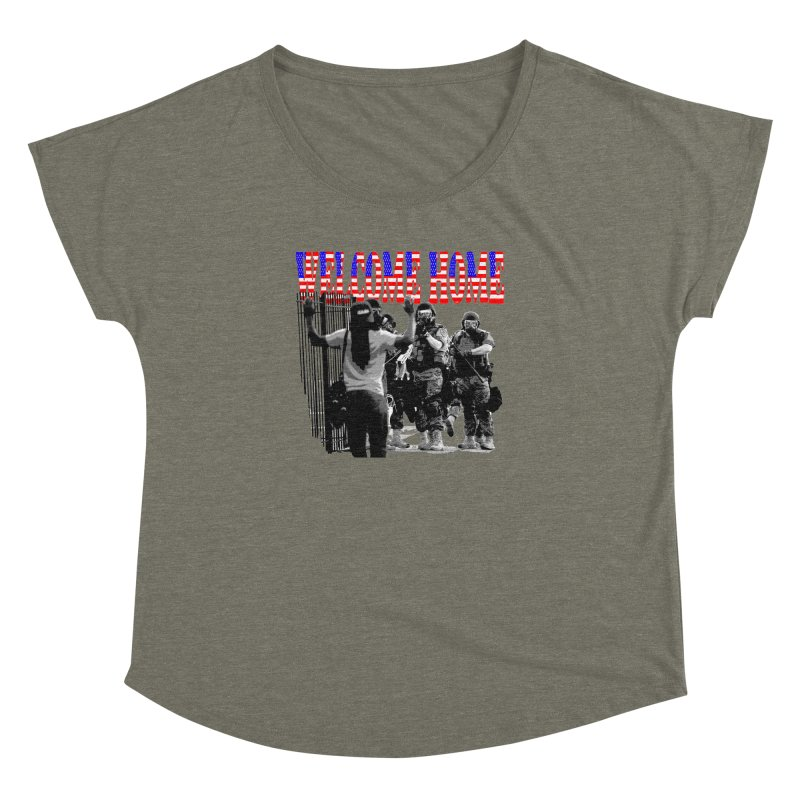 Welcome Home USA 2 Women's Dolman by Paparaw's T-Shirt Design