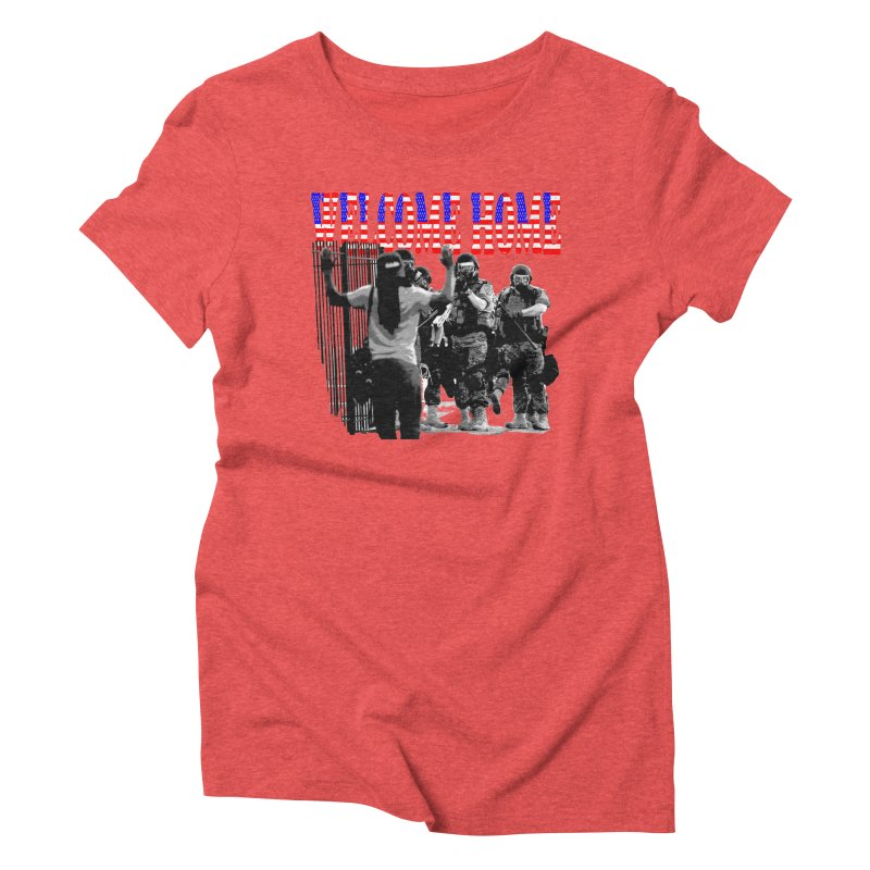 Welcome Home USA 2 Women's Triblend T-shirt by Paparaw's T-Shirt Design