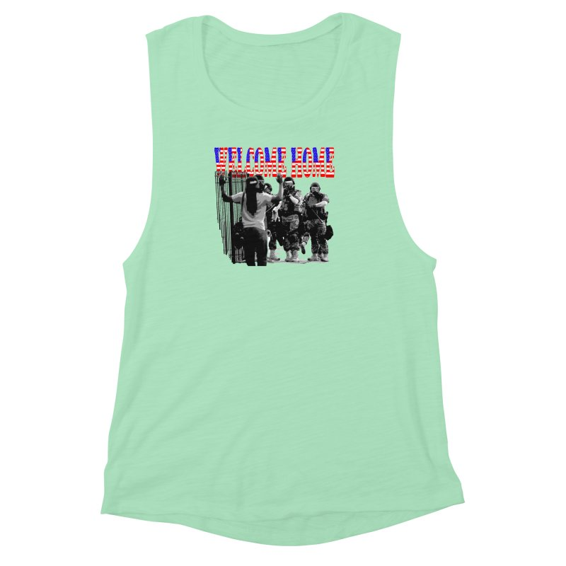 Welcome Home USA 2 Women's Muscle Tank by Paparaw's T-Shirt Design