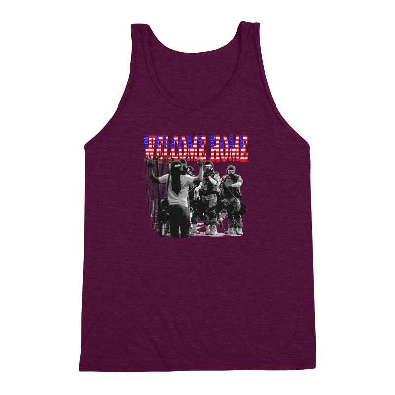 Welcome Home USA 2 Men's Triblend Tank by Paparaw's T-Shirt Design