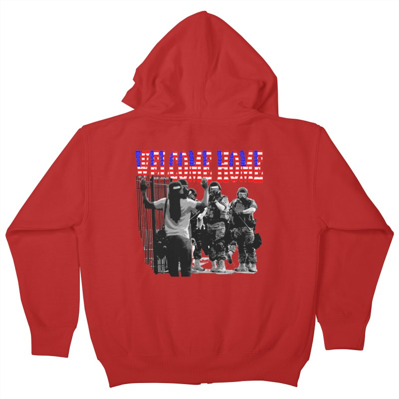 Welcome Home USA 2 Kids Zip-Up Hoody by Paparaw's T-Shirt Design