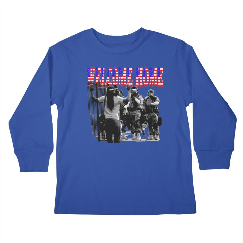 Welcome Home USA 2 Kids Longsleeve T-Shirt by Paparaw's T-Shirt Design