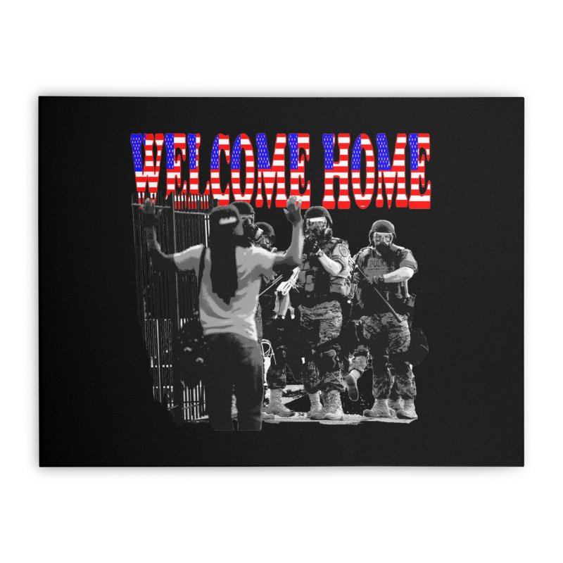 Welcome Home USA 2 Home Stretched Canvas by Paparaw's T-Shirt Design