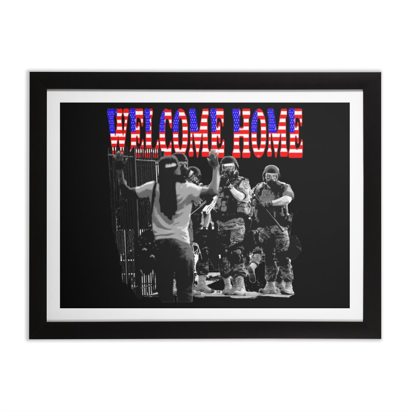 Welcome Home USA 2 Home Framed Fine Art Print by Paparaw's T-Shirt Design
