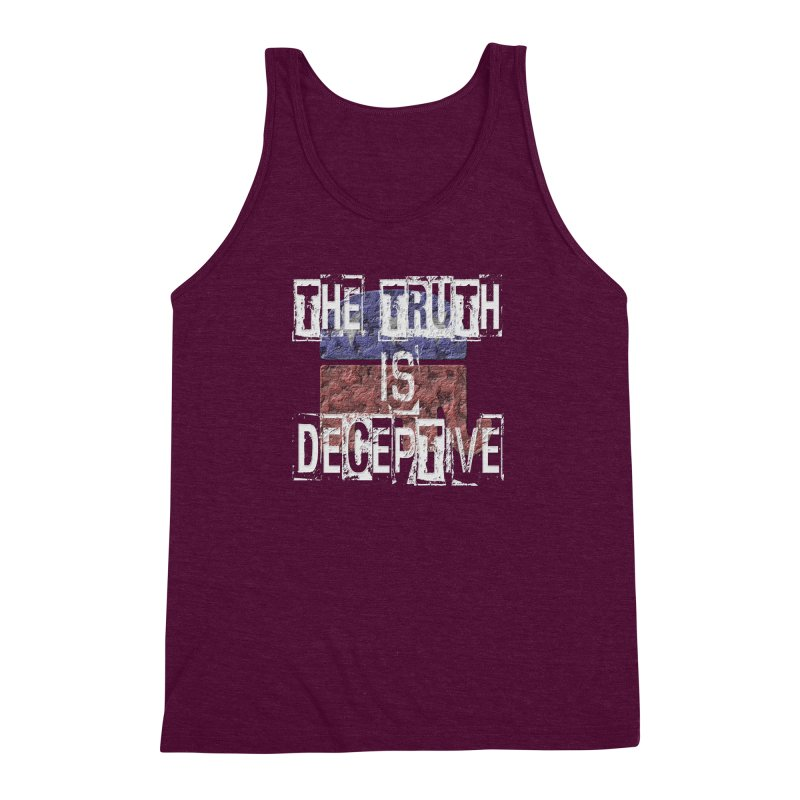 The Truth is Deceptive Men's Triblend Tank by Paparaw's T-Shirt Design