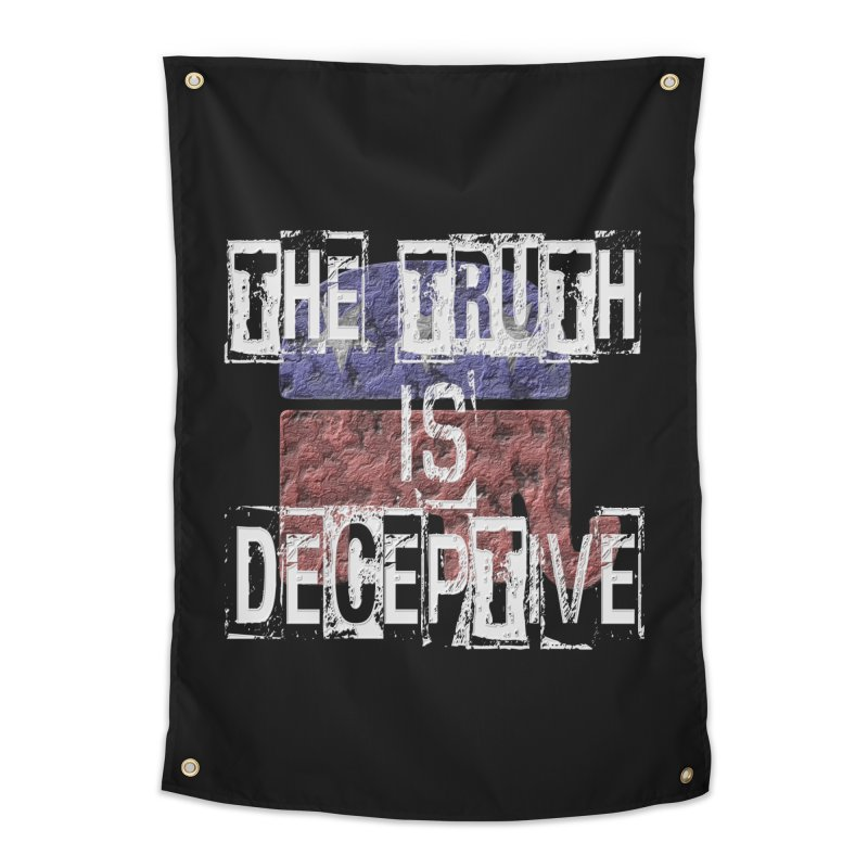 The Truth is Deceptive Home Tapestry by Paparaw's T-Shirt Design