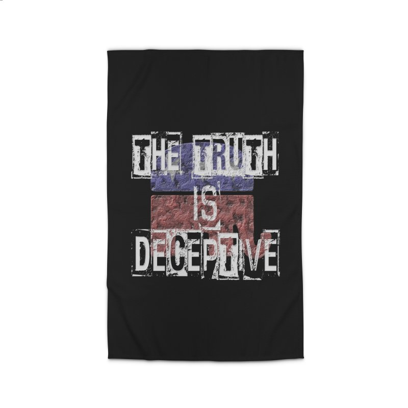 The Truth is Deceptive Home Rug by Paparaw's T-Shirt Design