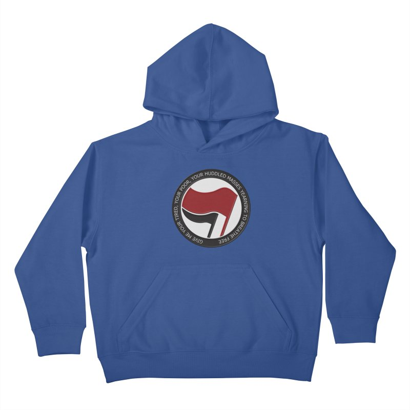 In The Name Of Liberty Kids Pullover Hoody by Paparaw's T-Shirt Design