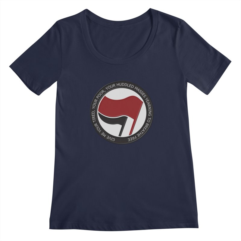 In The Name Of Liberty Women's Scoopneck by Paparaw's T-Shirt Design