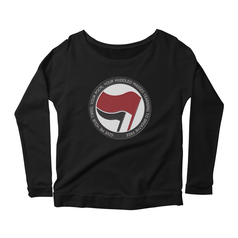 In The Name Of Liberty Women's Longsleeve Scoopneck  by Paparaw's T-Shirt Design