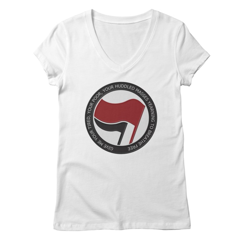 In The Name Of Liberty Women's V-Neck by Paparaw's T-Shirt Design
