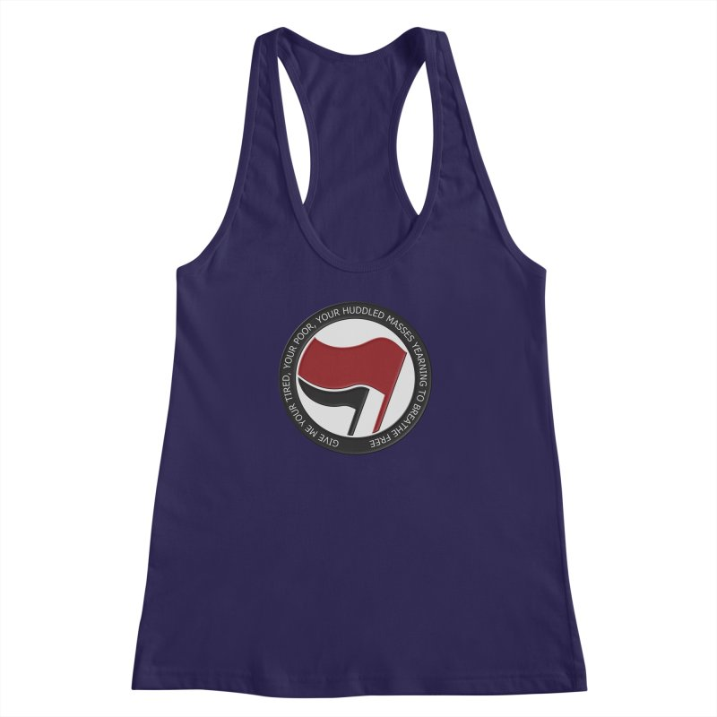 In The Name Of Liberty Women's Racerback Tank by Paparaw's T-Shirt Design