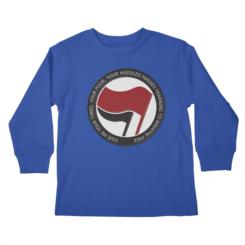 In The Name Of Liberty Kids Longsleeve T-Shirt by Paparaw's T-Shirt Design
