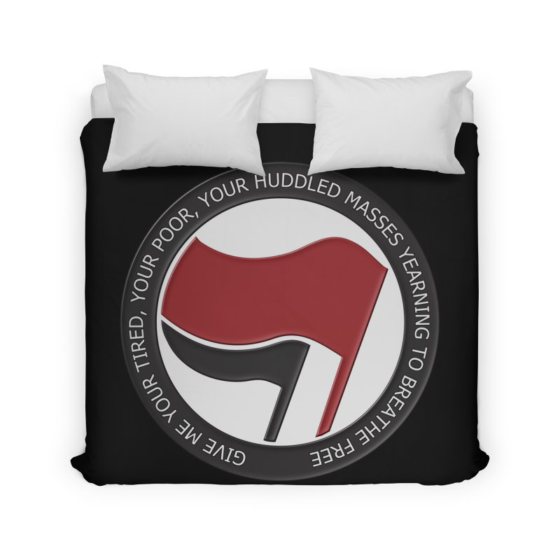 In The Name Of Liberty Home Duvet by Paparaw's T-Shirt Design