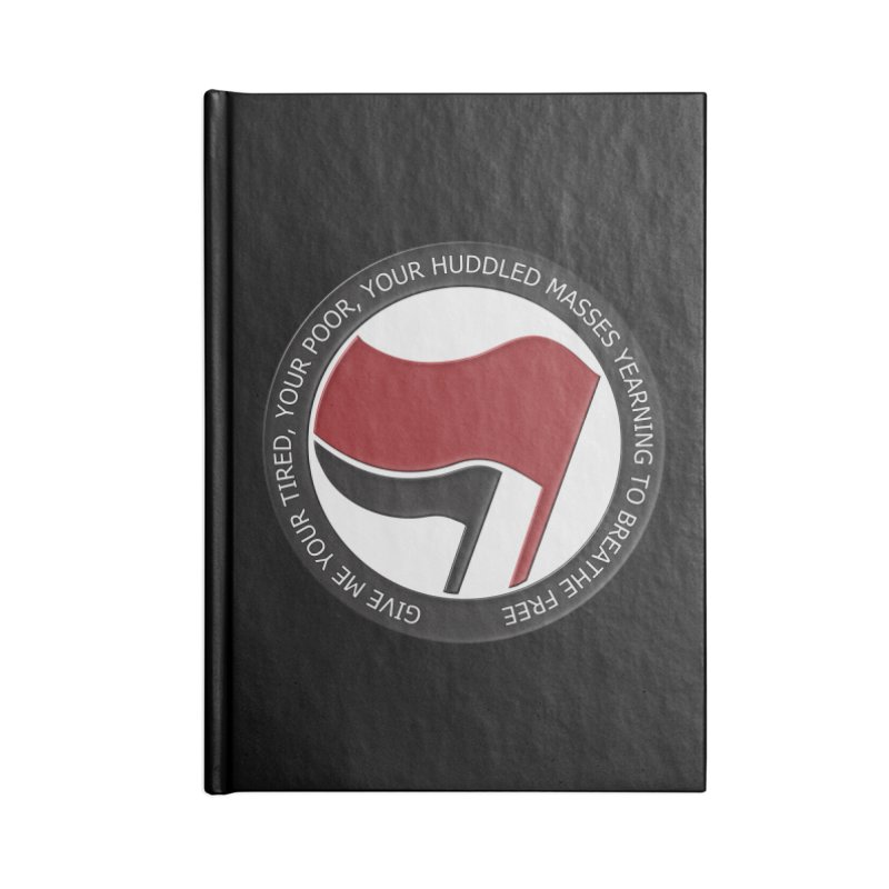 In The Name Of Liberty Accessories Notebook by Paparaw's T-Shirt Design