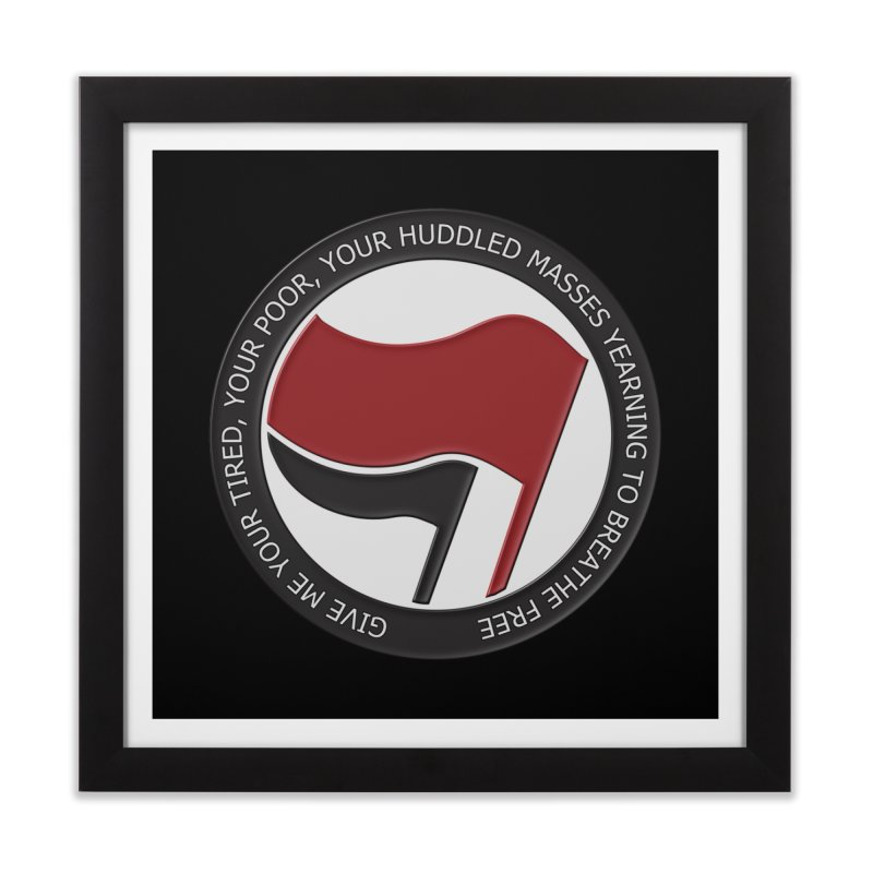 In The Name Of Liberty Home Framed Fine Art Print by Paparaw's T-Shirt Design