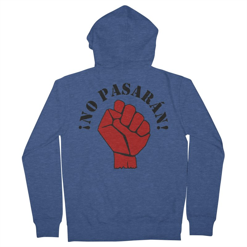 !NO PASARAN! Men's Zip-Up Hoody by Paparaw's T-Shirt Design
