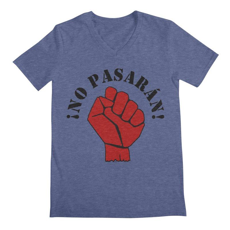 !NO PASARAN! Men's V-Neck by Paparaw's T-Shirt Design