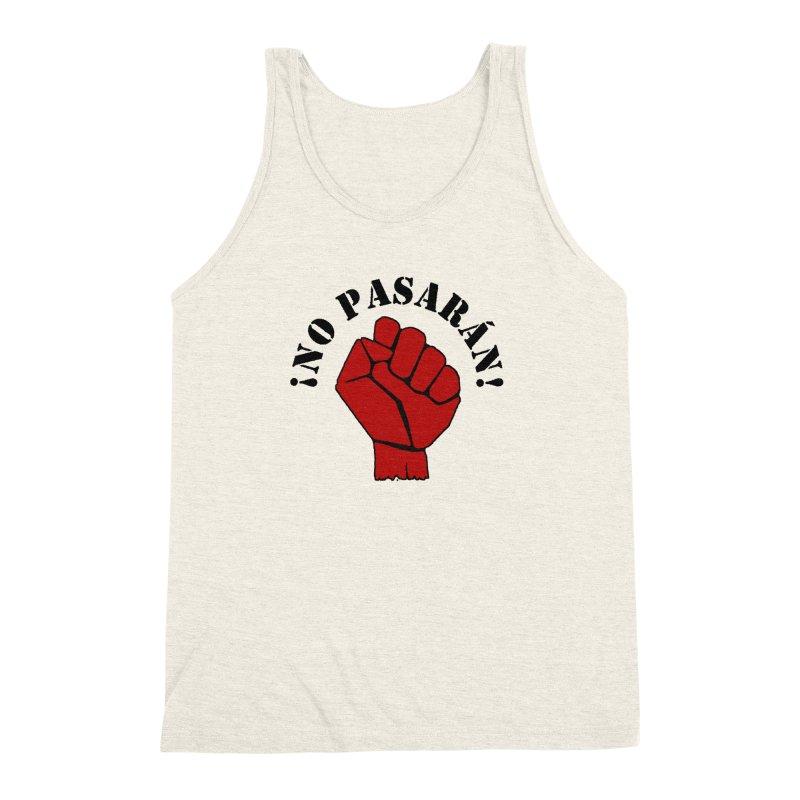 !NO PASARAN! Men's Triblend Tank by Paparaw's T-Shirt Design