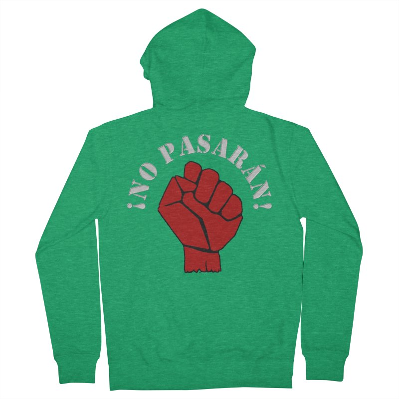 NO PASARAN Women's Zip-Up Hoody by Paparaw's T-Shirt Design