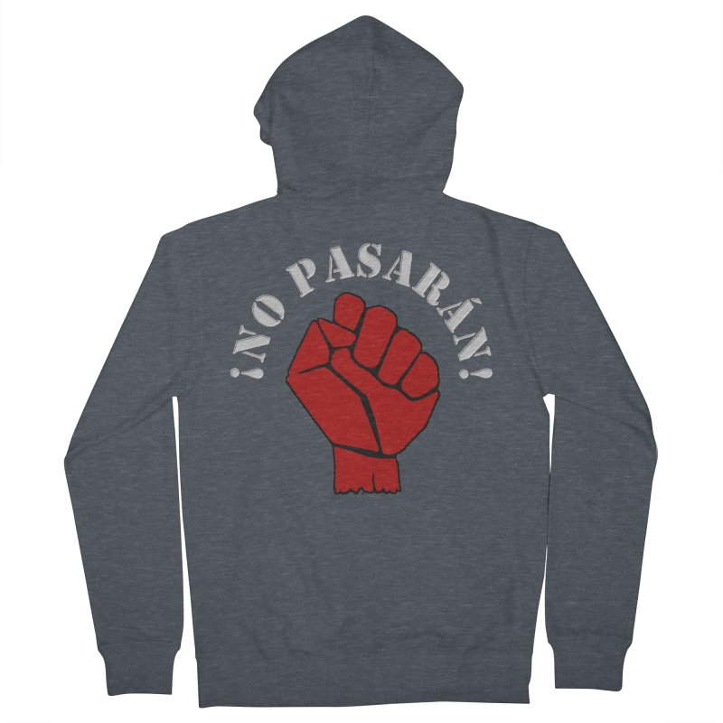 NO PASARAN Men's Zip-Up Hoody by Paparaw's T-Shirt Design