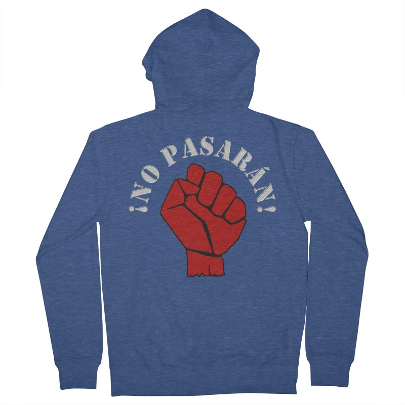 NO PASARAN Men's Zip-Up Hoody by Paparaw's T-Shirt Design