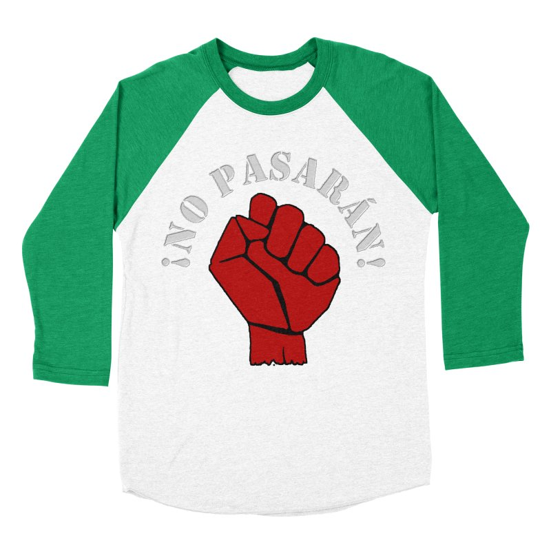 NO PASARAN Women's Baseball Triblend T-Shirt by Paparaw's T-Shirt Design