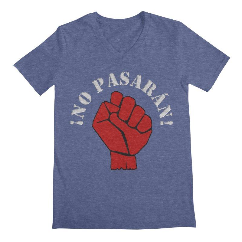 NO PASARAN Men's V-Neck by Paparaw's T-Shirt Design
