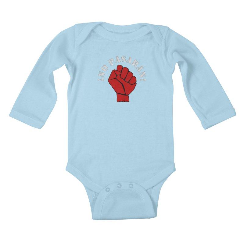 NO PASARAN Kids Baby Longsleeve Bodysuit by Paparaw's T-Shirt Design