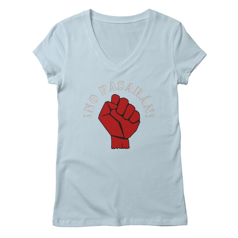 NO PASARAN Women's V-Neck by Paparaw's T-Shirt Design