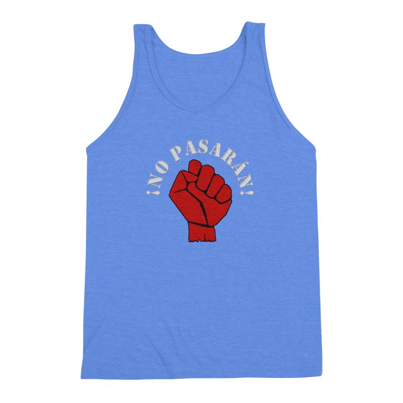 NO PASARAN Men's Triblend Tank by Paparaw's T-Shirt Design