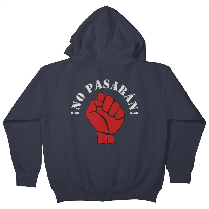 NO PASARAN Kids Zip-Up Hoody by Paparaw's T-Shirt Design