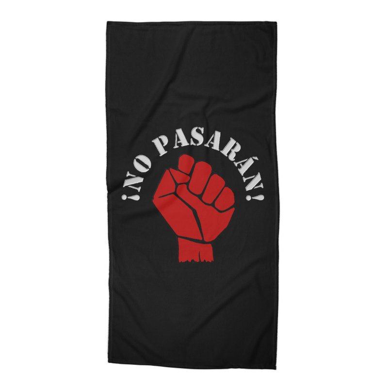 NO PASARAN Accessories Beach Towel by Paparaw's T-Shirt Design