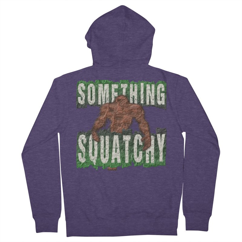 SOMETHING SQUATCHY Men's Zip-Up Hoody by Paparaw's T-Shirt Design