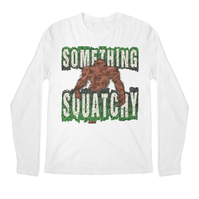 SOMETHING SQUATCHY Men's Longsleeve T-Shirt by Paparaw's T-Shirt Design