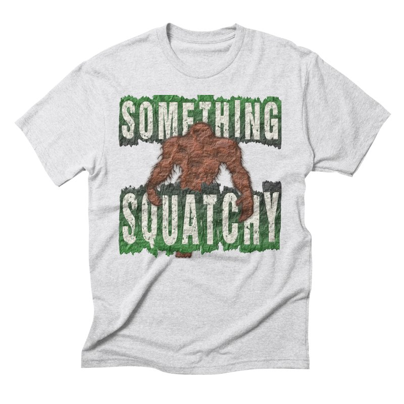 SOMETHING SQUATCHY Men's Triblend T-shirt by Paparaw's T-Shirt Design