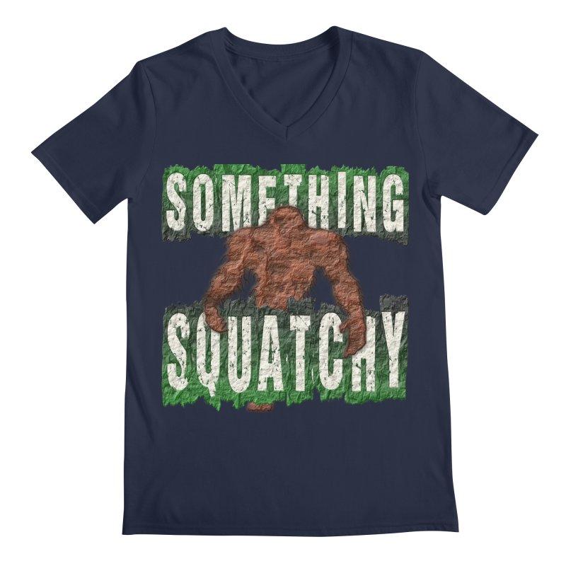 SOMETHING SQUATCHY Men's V-Neck by Paparaw's T-Shirt Design