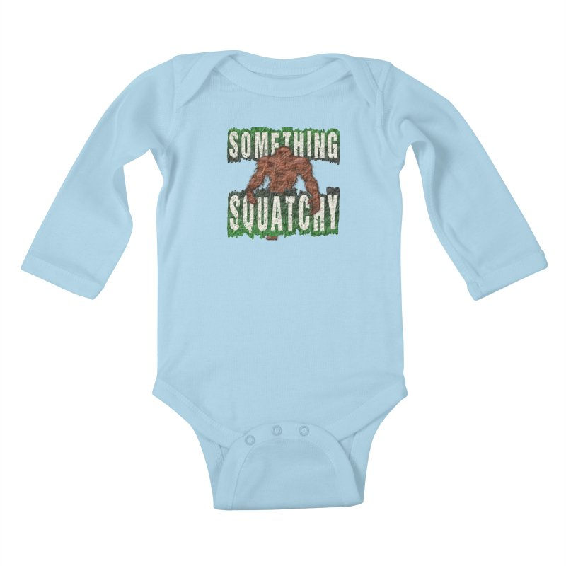 SOMETHING SQUATCHY Kids Baby Longsleeve Bodysuit by Paparaw's T-Shirt Design