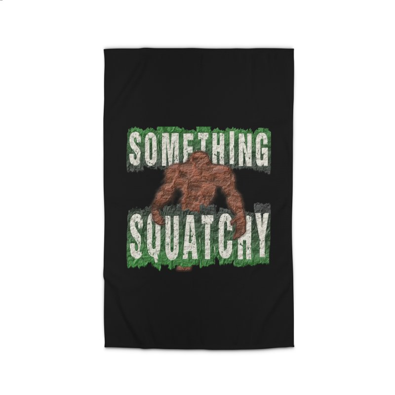 SOMETHING SQUATCHY Home Rug by Paparaw's T-Shirt Design