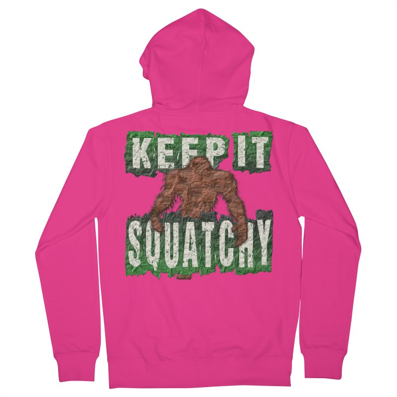KEEP IT SQUATCHY Men's Zip-Up Hoody by Paparaw's T-Shirt Design