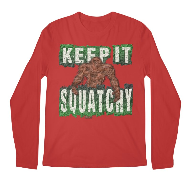 KEEP IT SQUATCHY Men's Longsleeve T-Shirt by Paparaw's T-Shirt Design